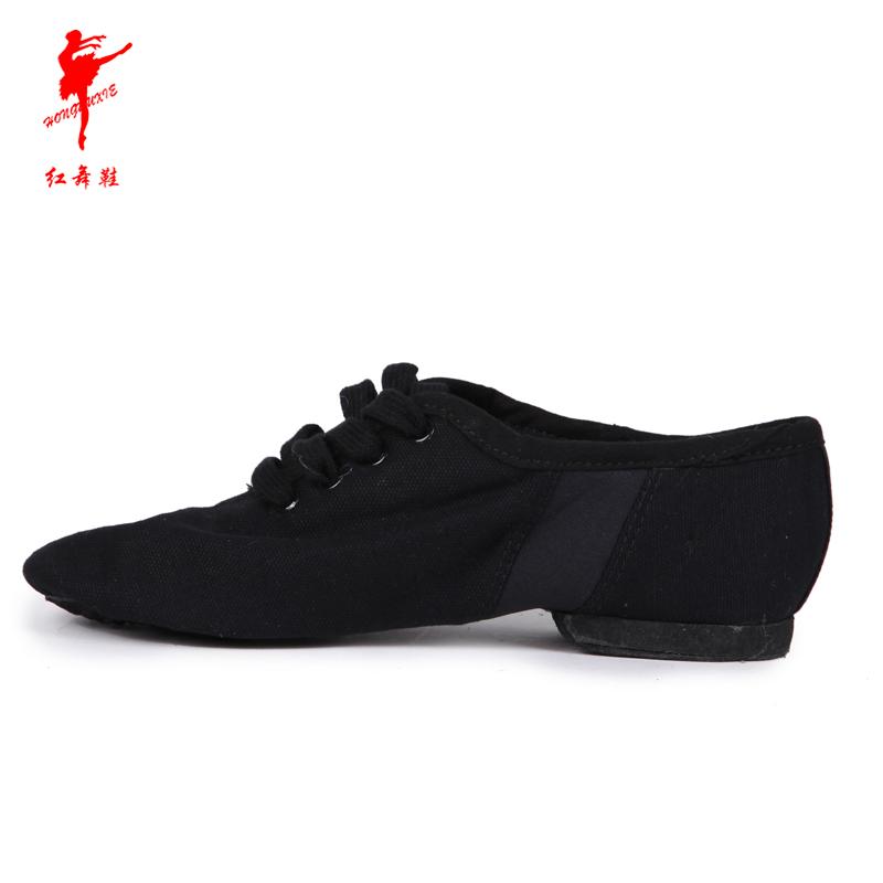 Красный обувь холст сэр обувной танец обувной женщина современный танец практика гонг обувной для взрослых комнатный танцы обувной 1009