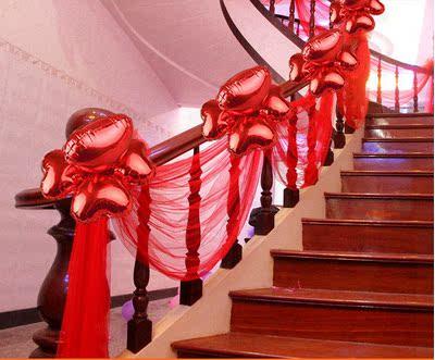 婚庆装饰婚礼背景纱幔布幔吊顶雪纱展厅现场布置楼梯装饰扶手装饰