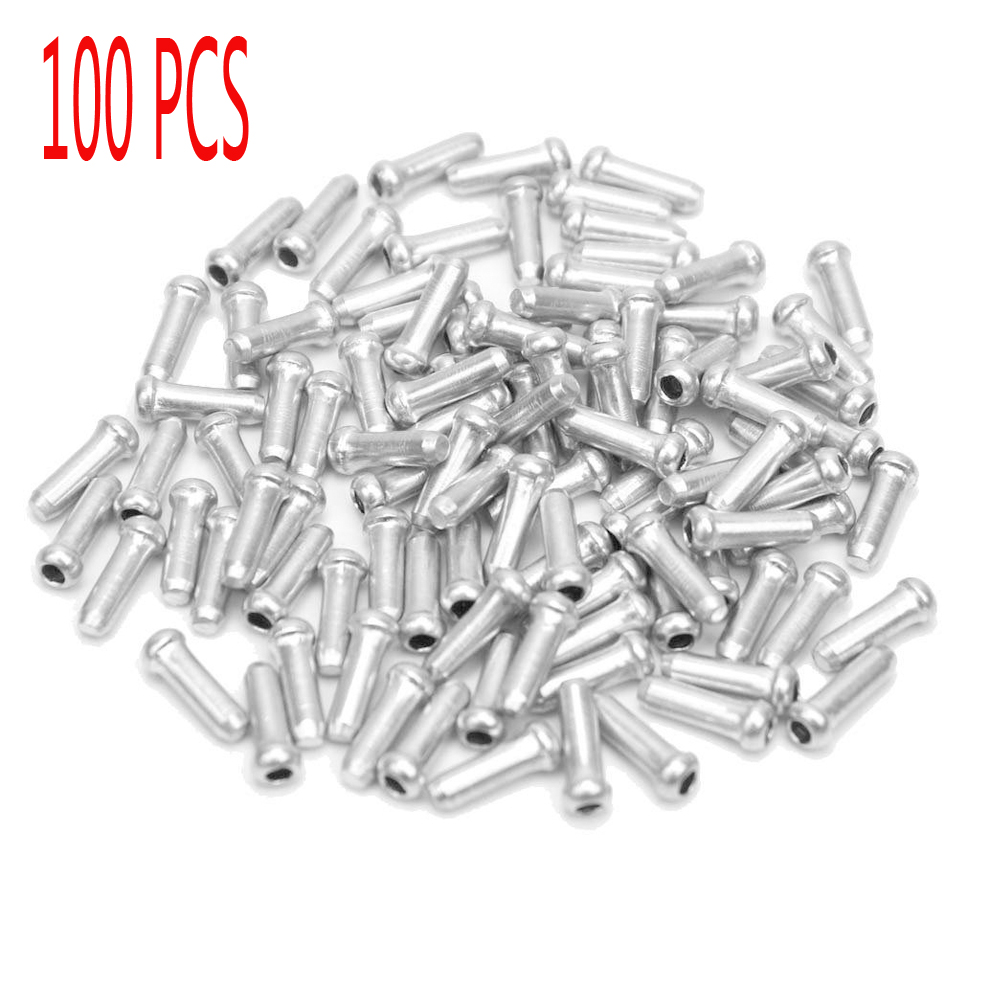 100X Silver Aluminum Bicycle Brake Shifter Inner Cable Tip Wire End CapODFS
