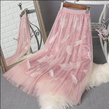 三层网纱甜美百褶仙女裙