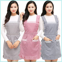 Kitchen anti-wear 2019 new Nordic style apron home painting Japanese big size plus increase 300 pounds ins