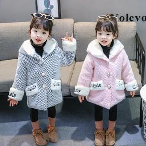 宅時尚2018冬季新款女童外套韓版中小童加厚連帽水貂絨童裝