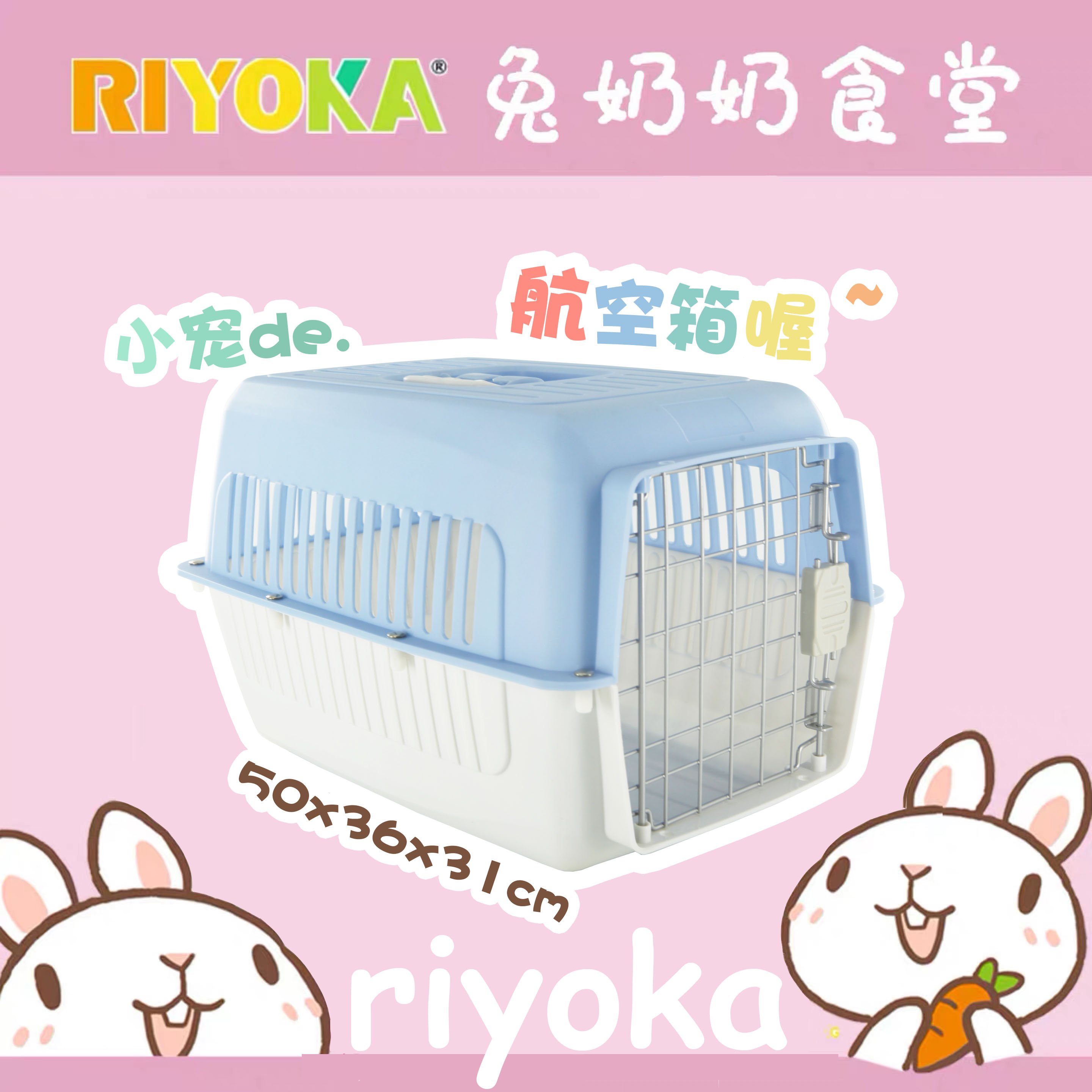 Ruiyou home simple out-of-door shipping pet air box Pet rabbit Totoro small pet universal ultra-high color value