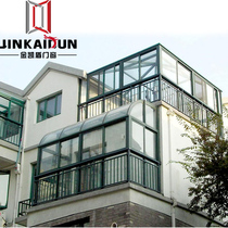 Sichuan Sunshine Room Steel Structure Sunshine Room Roof Garden Sunshine Room Glue tempered glass glass room