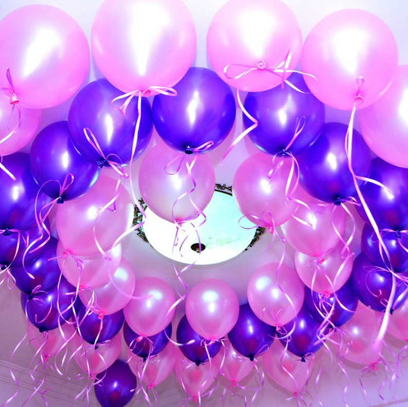 Chuanghang June 1 Childrens Day thickened round pearlescent balloon Birthday party supplies Wedding wedding room decoration