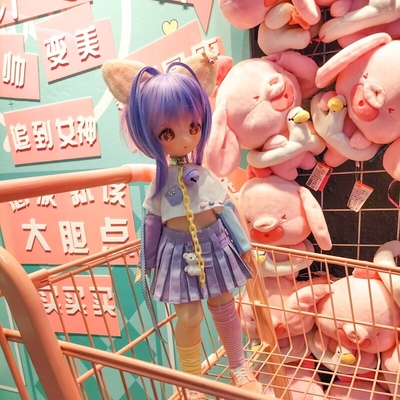 taobao agent {Spot} Xiongmei Rabbit Girl mdd msd4 points baby clothes suit blueberry pudding