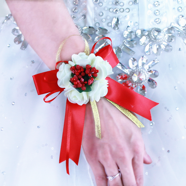 Chuanghang wedding wedding festive supplies Bridal wrist flower Korean bridal wrist flower can be customized