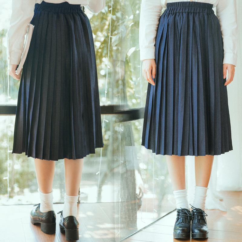 不低于39韩版百褶长裙半身裙 秋季现货