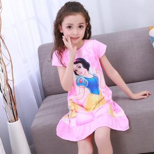 爆款数码短袖裙荷花公主