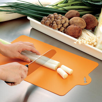 Japan imported household rectangular cutting board large cutting board knife board kitchen cutting board plastic classification cutting board mildew