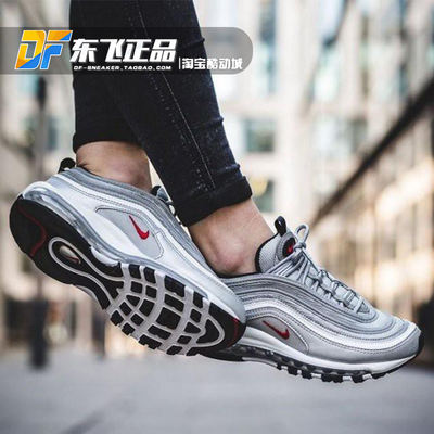 hot sale online a5f06 524e3 Nike Air Max 97 silver bullet 3M reflective full palm cushion running shoes  884421-885691-001-700