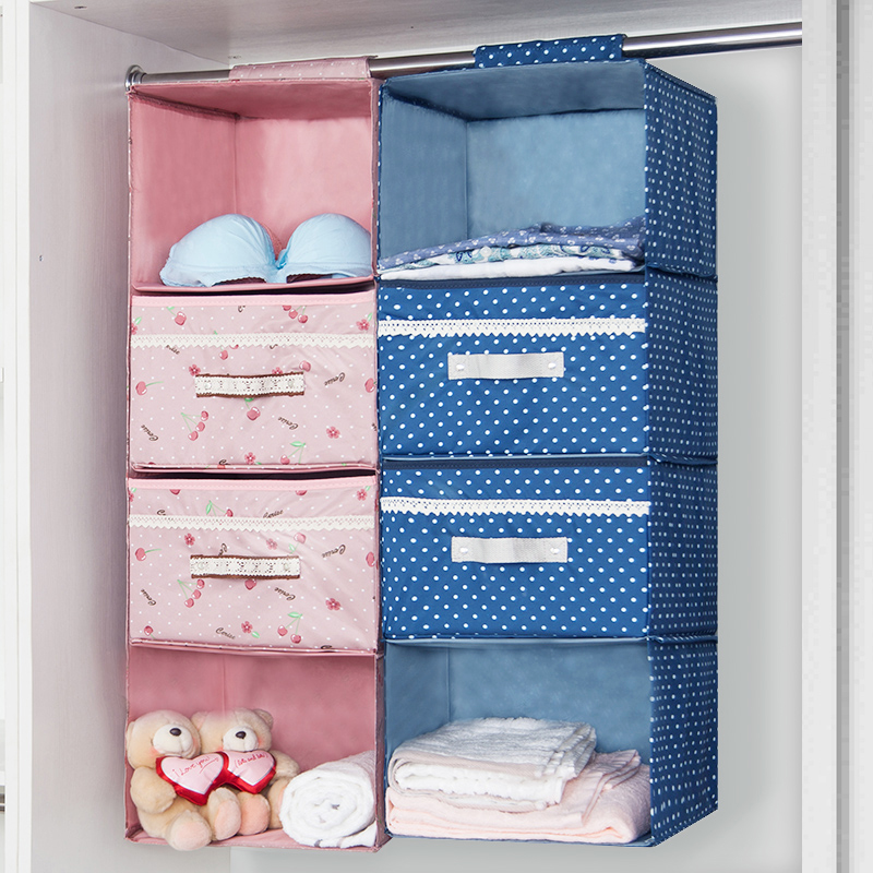 Carolina Closet Cabinet Wardrobe Storage Hanging Bags Cloth Art Strong  Load Bearing Hanging Closet Storage
