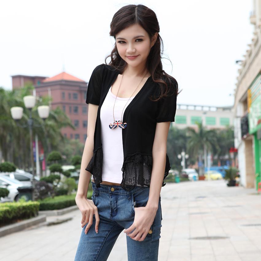 夏天空调衫百搭短披肩小外套 女夏装超薄防�鹨� 夏季薄款外搭开衫