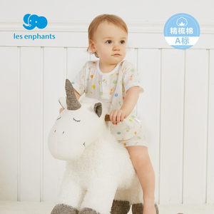 丽婴房婴儿衣服儿童纯棉内衣套装男女童夏季薄款短袖套装2018新款