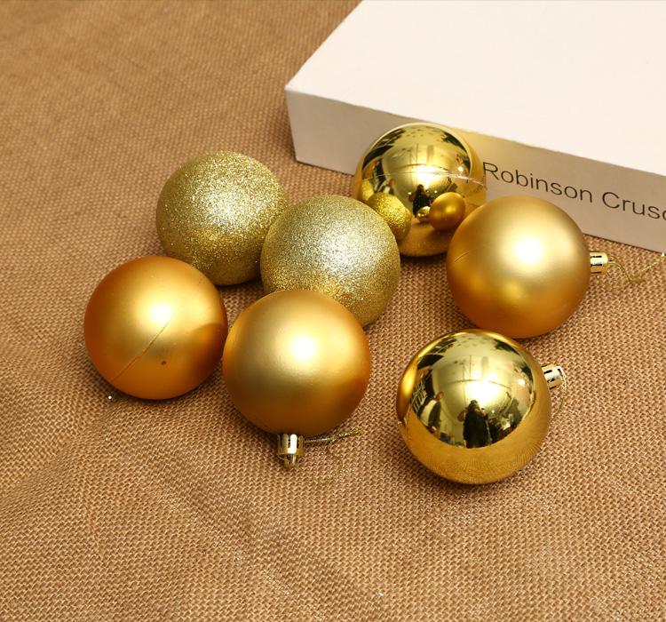 聖誕樹掛飾聖誕節裝飾品啞光球亮光球金色聖誕球裝飾吊球櫥窗掛球