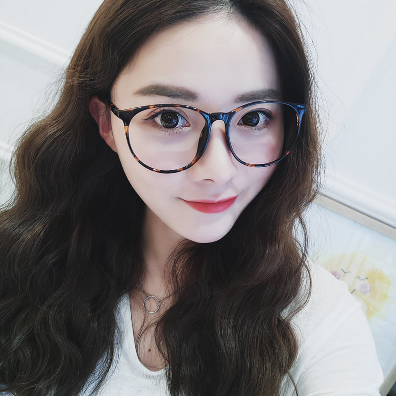 a3b38306f819 Ultra-light retro eye frame female TR90 with myopia big face Korean version  of the tide round face large frame glasses frame male full frame black frame