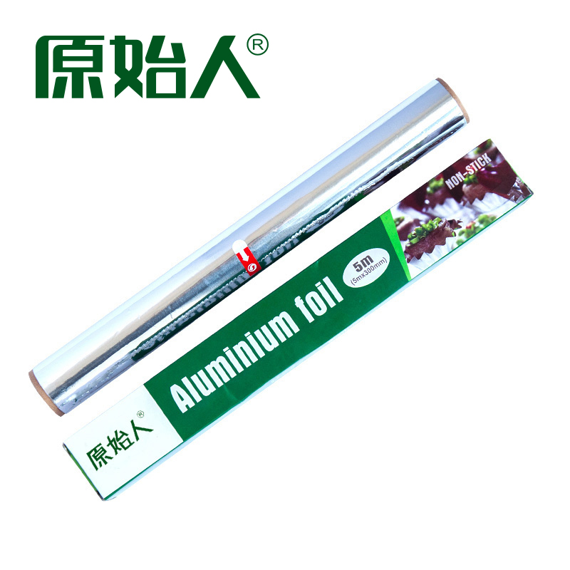 Primitive Outdoor Barbecue tool tinfoil thickened aluminum foil barbecue accessories tinfoil paper 5 m household
