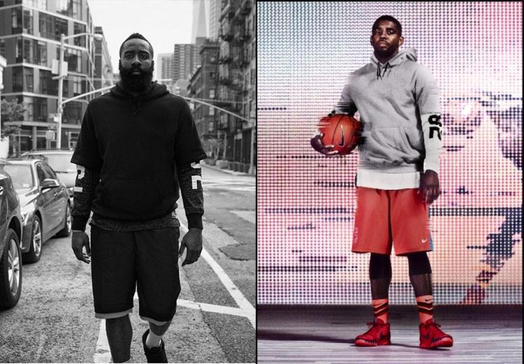 Curry James đội mũ trùm đầu áo len nam ngắn tay bóng rổ Owen không tay vest khâu đào tạo phù hợp với bông mỏng