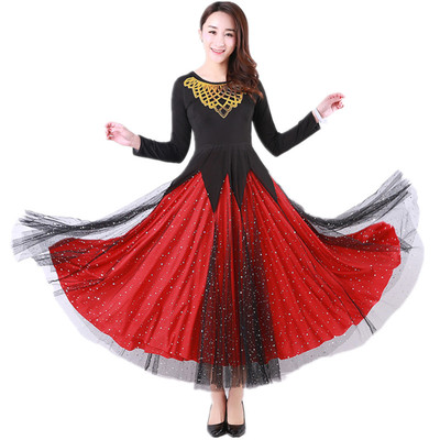 Women's Ballroom Dance Dresses Modern dress Tango Waltz dress