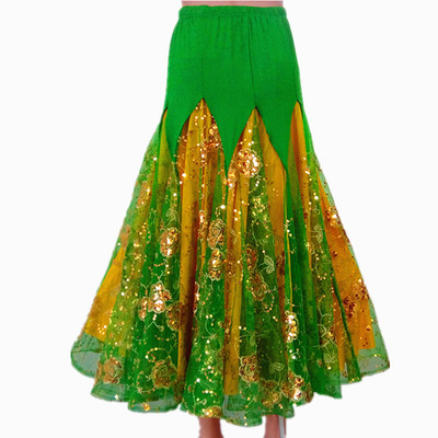Women's Ballroom Dance Dresses Modern Skirt Performing Dress Competition Big Dress National Standard Long Skirt Dancing Skirt Waltz Skirt