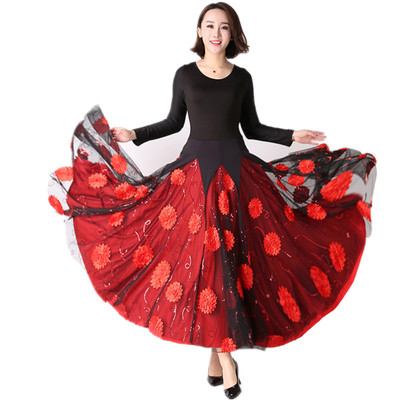 Women's Ballroom Dance Dresses Tango Waltz, National Standard for Dresses in Modern Skirt Competition