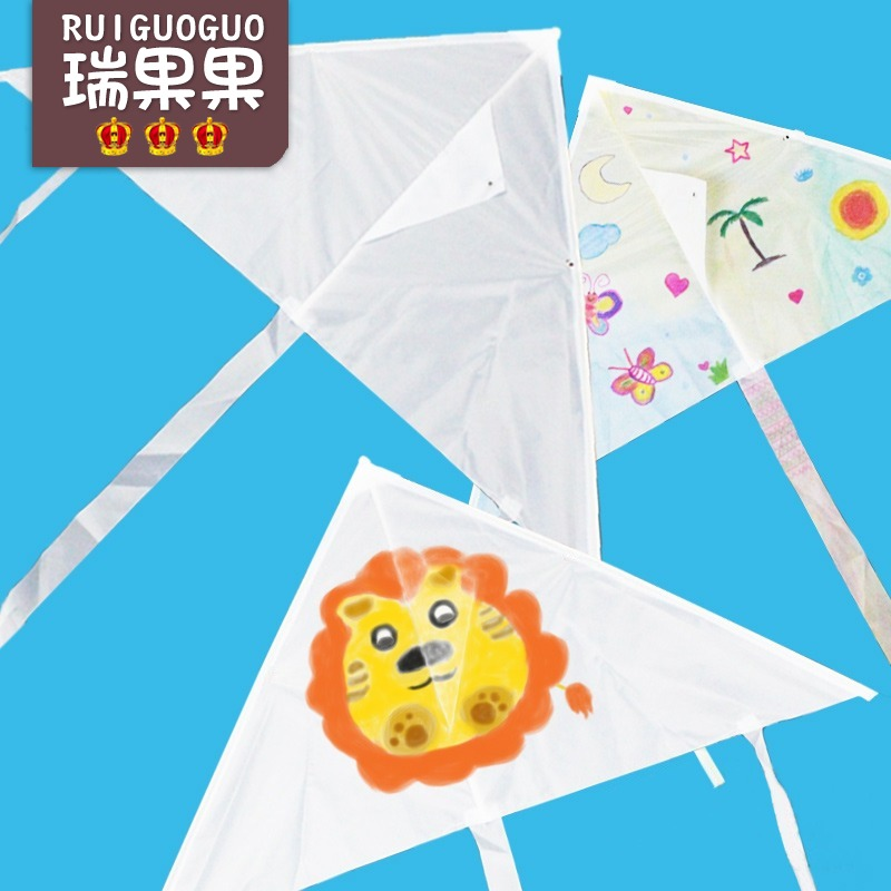 Usd 5 22 Kindergarten Blank Color Kite Children S Creative Art