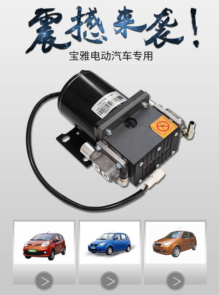 Baoya Wind Redding Yijie Duejue Electric Car Vacuum Pump Brake Booster Suction Motor