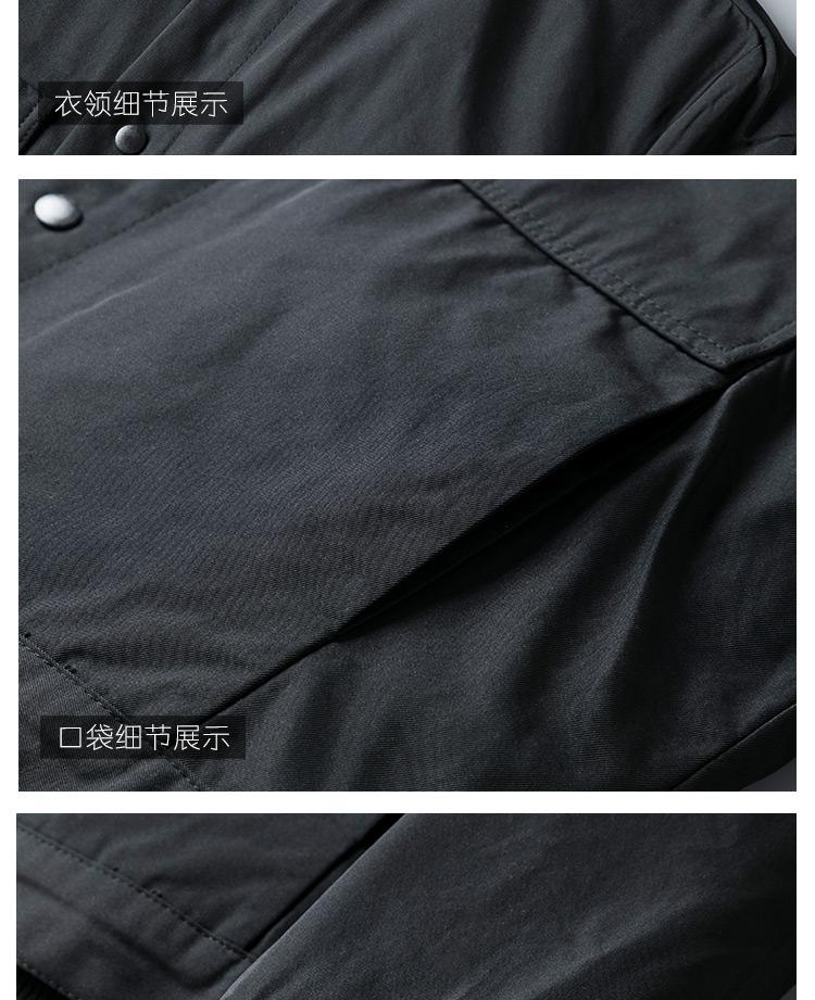 可脱卸两穿冬季棉衣男外套新款商务休閒男士棉服修身棉袄冬装详细照片