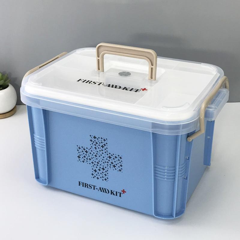 Большой размер аптечка домой двойной портативный ребенок врач аптечка медицина статья ящик здравоохранение коробка врач лечение коробка первая помощь коробка
