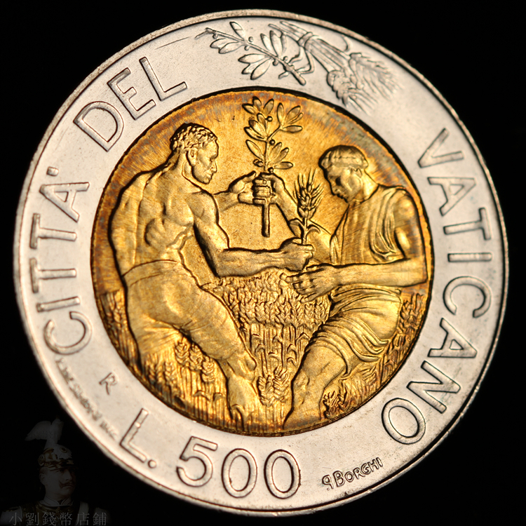 The New Vatican 1998 500 Lire Bicolour 25 8mm Foreign Coins Real