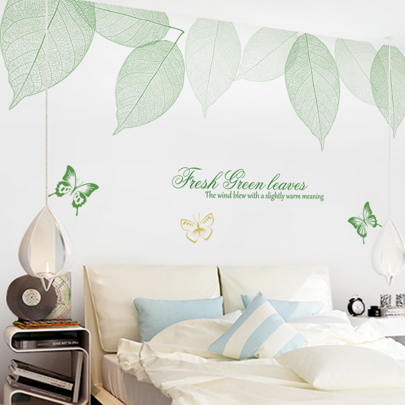 Usd 2179 Small Fresh Green Leaves Wall Stickers Wall Decorations