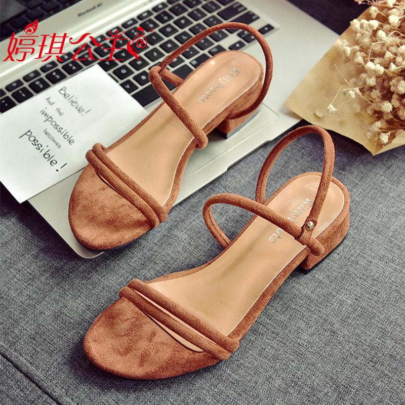 2018 new sandals female summer flat shoes two wear sandals and slippers  students wild Korean version d7d0e0e03
