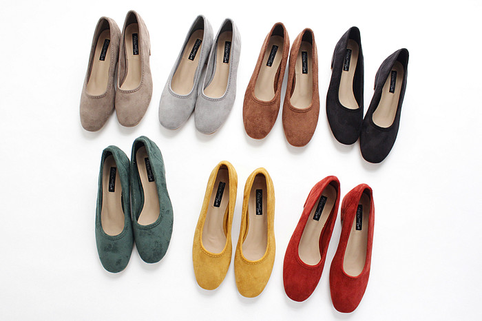18 new spring and autumn shallow rough suede shoes plus velvet popular shoes low-heeled size women shoes 9
