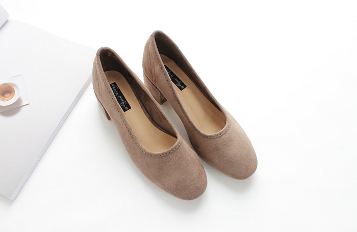 18 new spring and autumn shallow rough suede shoes plus velvet popular shoes low-heeled size women shoes 14