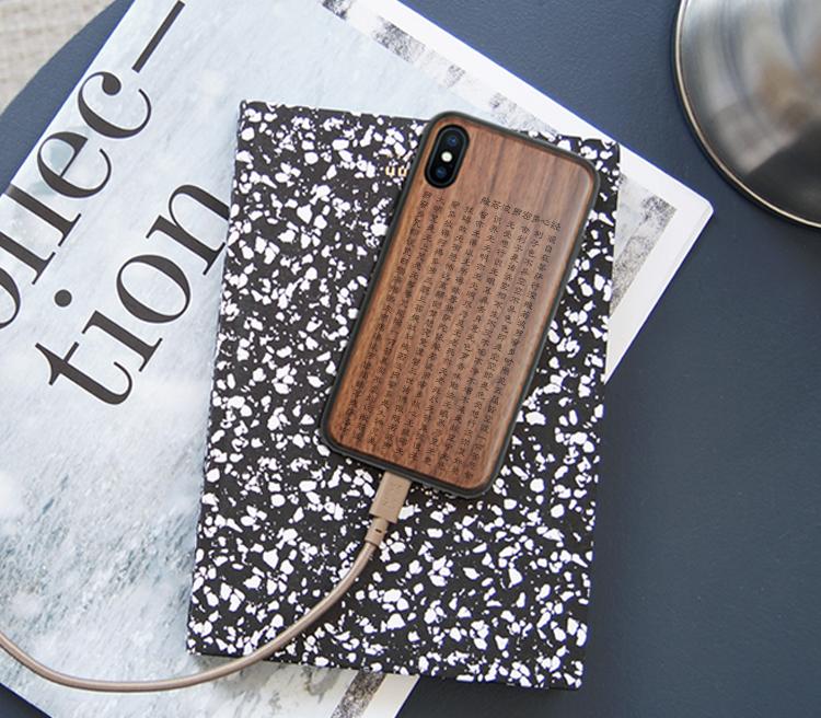 iPhone8p木质手机壳心经苹果X实木头保护套6sp全包防摔木制壳禅7p