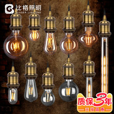 Edison LED bulb retro nostalgic E27 large screw mouth warm yellow light tungsten imitation lamp Dragon Ball creative 1 Watt