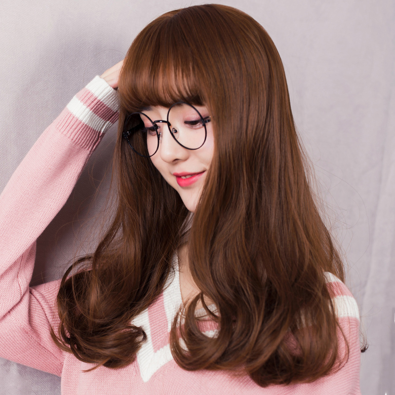 Usd 3707 Wig Female Long Straight Hair Long Curly Hair Clavicle