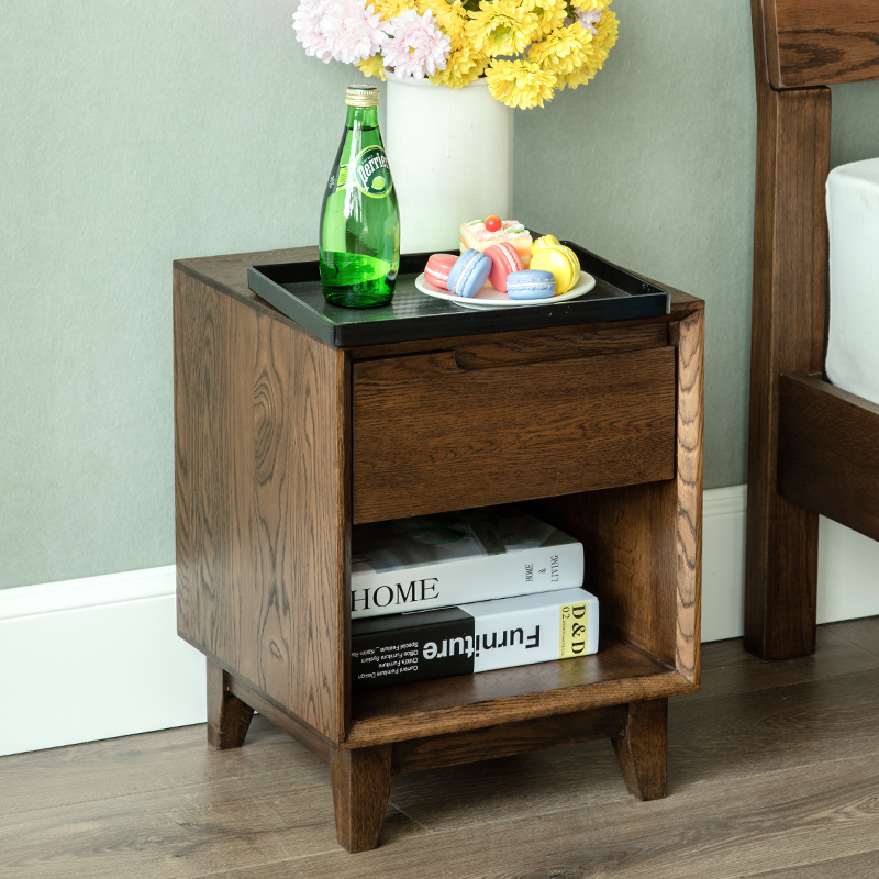 Usd 373 16 Wood Square Pure Solid Bedside Table White Oak