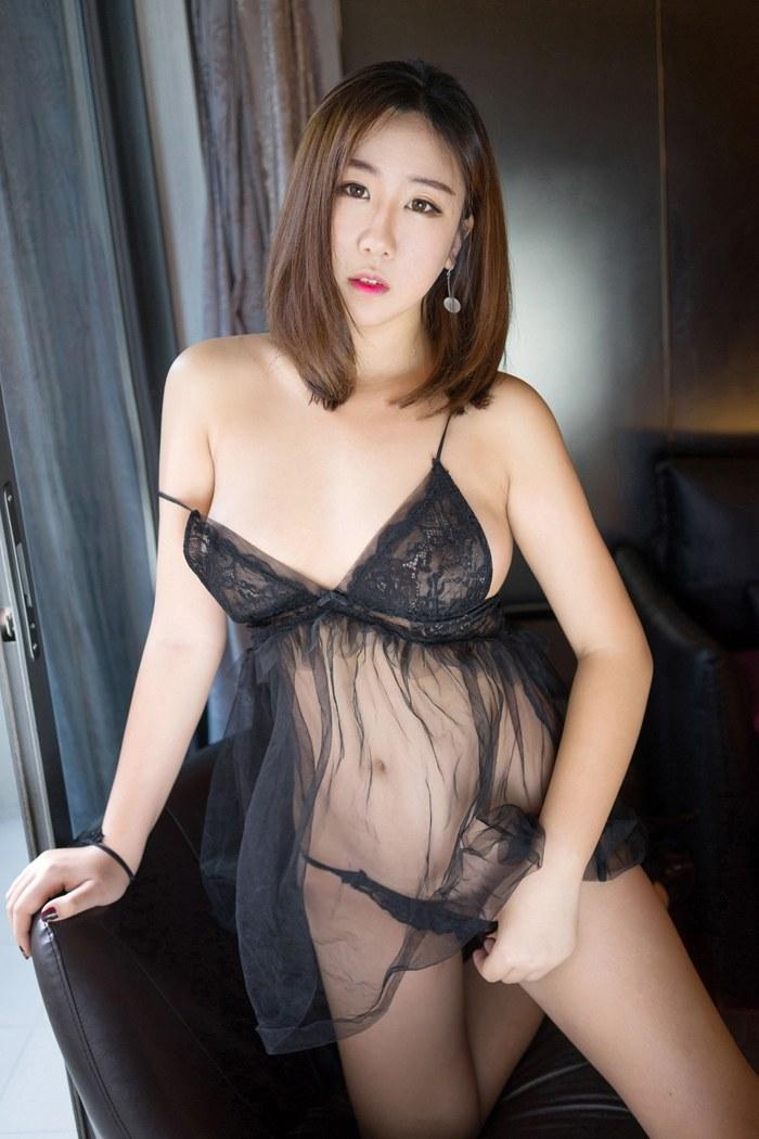 福利美图_性感美女Molly透明黑纱高翘臀超诱惑