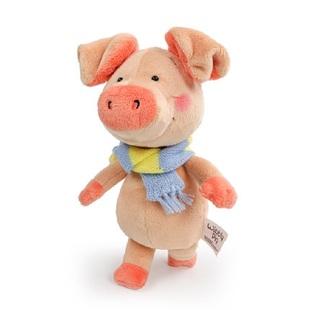 德国NICI小猪威比公仔毛绒玩具围巾小猪女友玩具可爱豆豆眼小猪