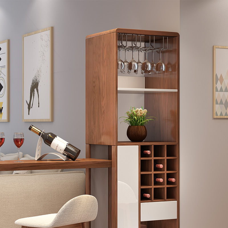 Le private folding bar wine cabinet combination modern minimalist small apartment room cabinet living room console cabinet Nordic partition cabinet : small wine cabinet - Cheerinfomania.Com