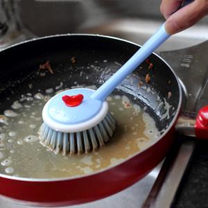 2把 刷锅神器洗锅刷子长柄不沾油清洁刷厨房用具加长带手柄不沾锅