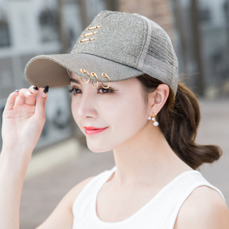 765a5226bf0 Baseball hat female summer Korean tide sun hat iron ring cap outdoor leisure  sun visor net. Zoom · lightbox moreview · lightbox moreview · lightbox  moreview ...