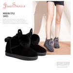 巨圣女鞋2017冬季新款韩版雪地靴女平低短靴保暖加绒雪地棉靴棉鞋