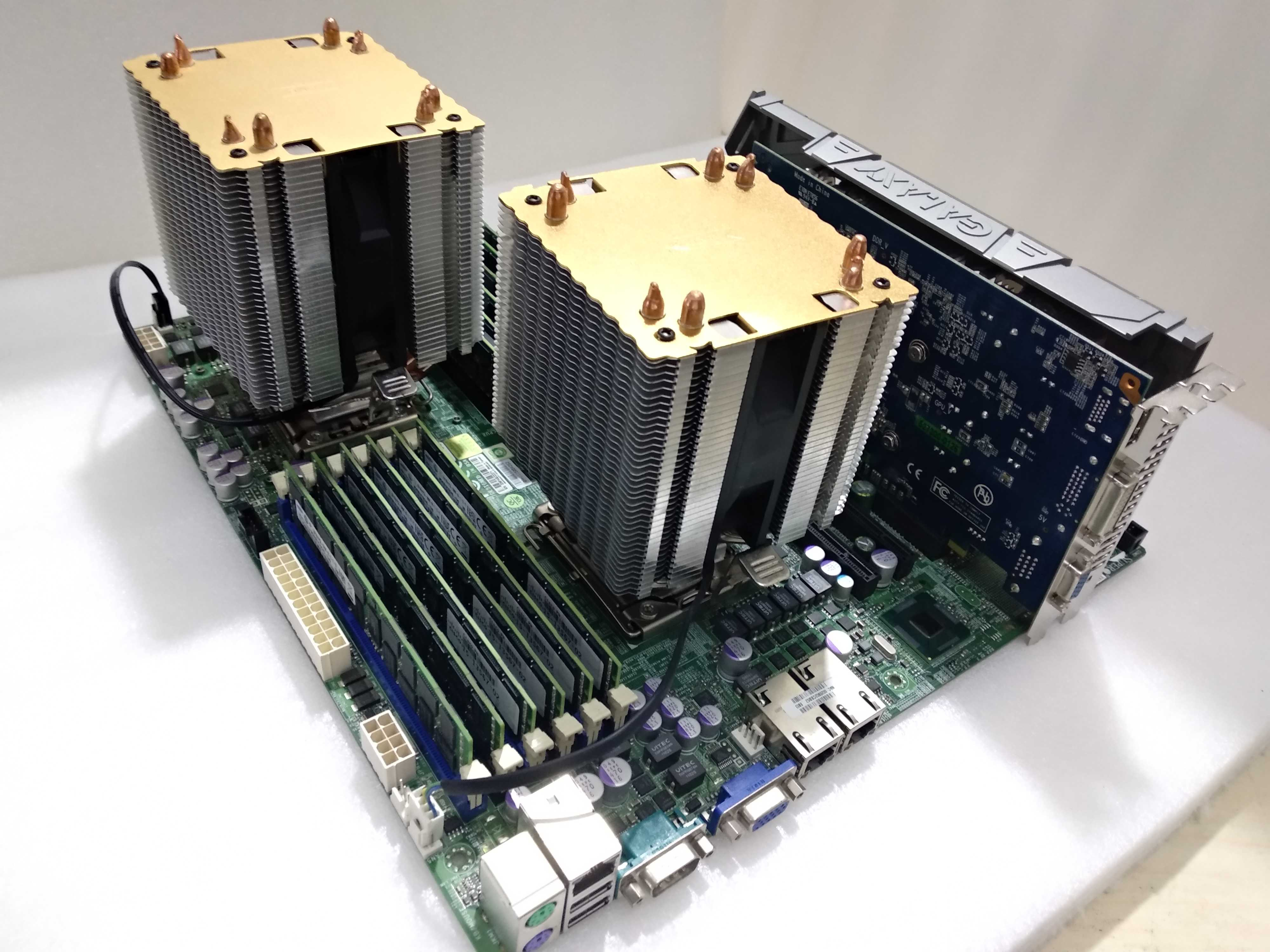Supermicro X8DT3-F dual 1366 X58 motherboard X5650 DNF game