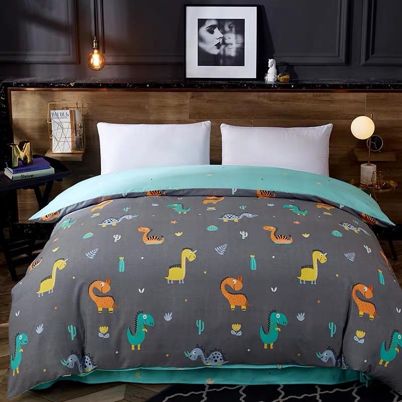 Chăn bông đơn mảnh dày chải bông bông 1,5 mét đơn đôi 1,8 mét 200x230cm tùy chỉnh - Quilt Covers