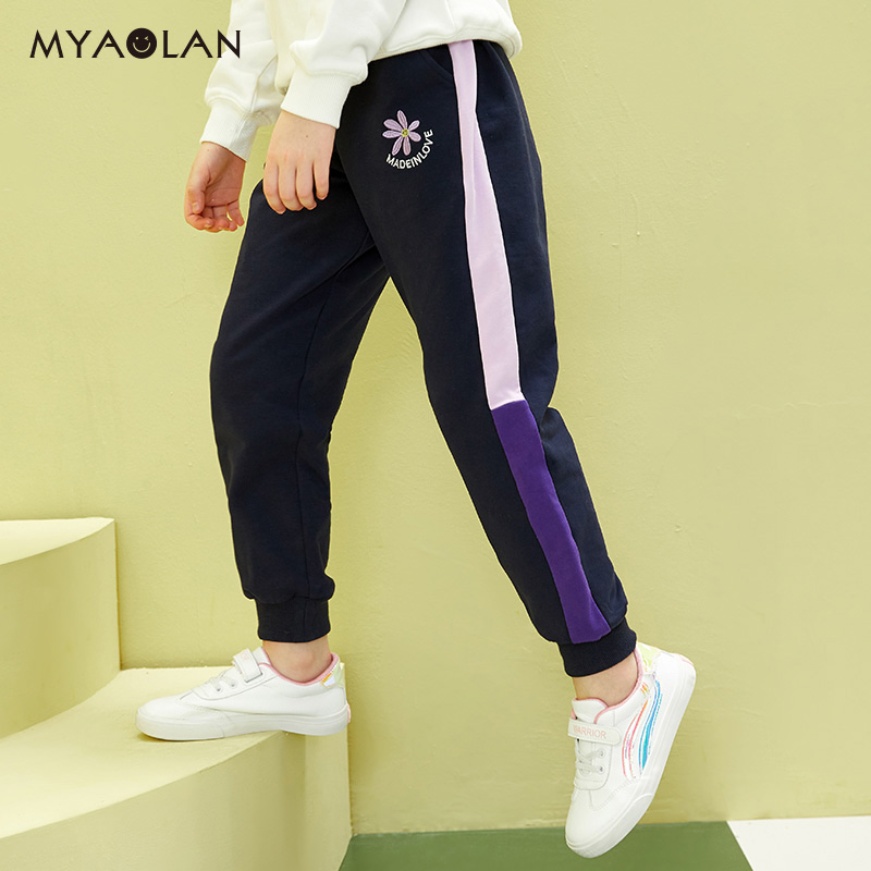 Girls spring new loose pants children's pants in the big children's casual pants Korean version of the foreign gas pants spring and autumn