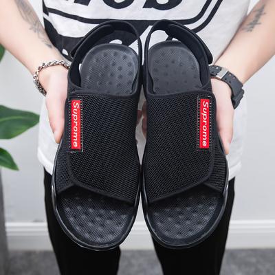 超火男鞋潮流运动鞋网红夏季新款透气休闲凉鞋百搭青年时尚跑步鞋