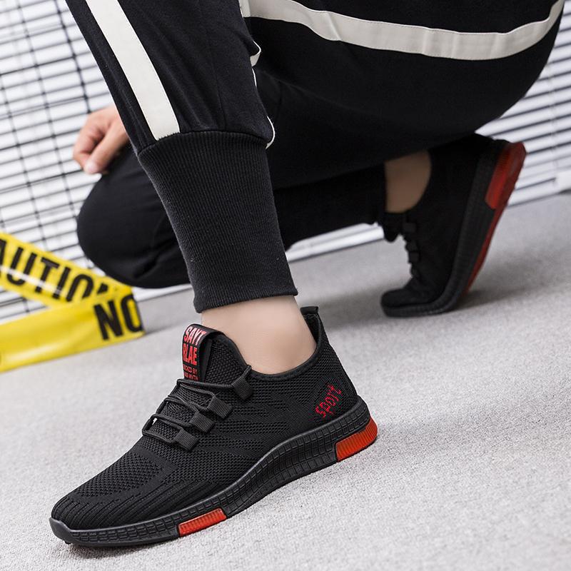 运动男鞋休闲透气网面男生跑步鞋轻便跑步鞋