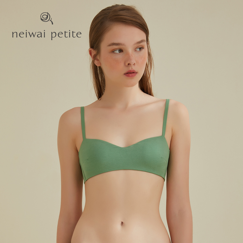 95db679b777 ... NEIWAI inside and outside girls 1/2 cup cotton small chest underwear  female no steel